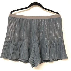 NWT Free People Pleated Gunmetal Shorts